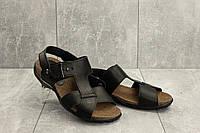 Босоножки StepWey 1075 (лето, мужские, натуральная кожа, черный-коричневый), фото 1