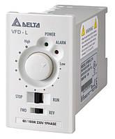 Преобразователь частоты Delta Electronics, 0,1 кВт, 230В,1ф.,скалярный,VFD001L21A