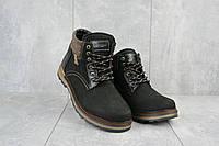 Ботинки мужские Zangak 942 чн черные (натуральная кожа, зима), фото 1