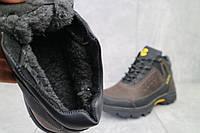 Кроссовки мужские Anser 124 черные-коричневые (натуральная кожа, зима), фото 1