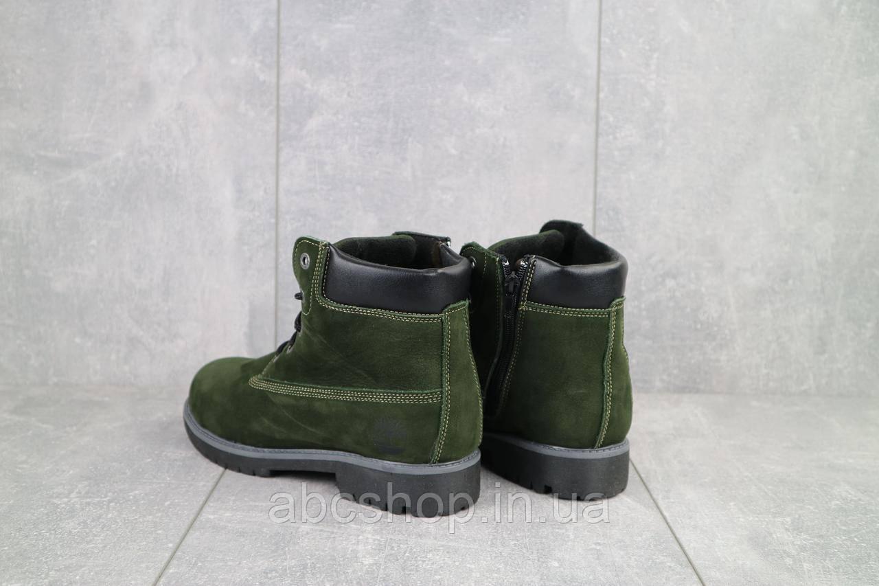 Ботинки подростковые Monster T хаки (натуральная кожа, зима)
