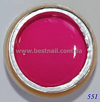 Гель-краска CANNI 5мл №551 темная фуксия, фото 1