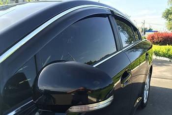 Дефлекторы окон (ветровики) Lexus GS 2012 -> С Хром Молдингом
