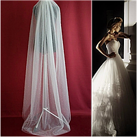 Вау! Роскошная длинная с жемчугом свадебная Фата SF для Невесты Белая/Айвори (sf-338), фото 1