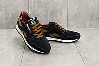 Мужские кроссовки замшевые весна/осень синие-рыжие Yuves R 250