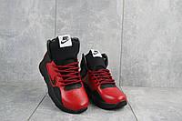 Подростковые кроссовки кожаные зимние красные-черные CrosSAV z 316