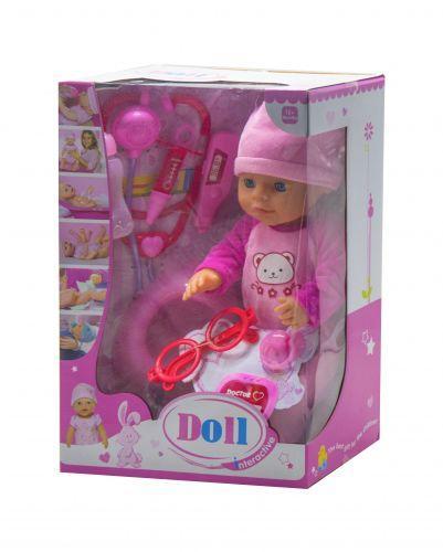 """Функциональный пупс с докторским набором """"Doll"""" (в розовом) YL1812F"""