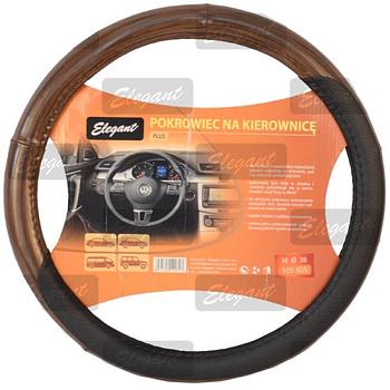 Чехол на руль Кож.зам XXL (47см) черно-коричневый Elegant 105508