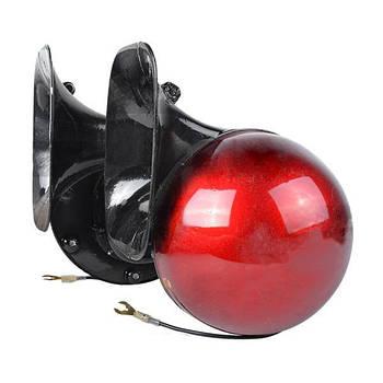 """Сигнал звуковой 12V/115mm """"Улитка"""" ВОЛГА 100792  Elegant красный"""