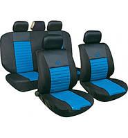Чехлы авто сидений комплект черно-голубые Tango 24016/3 Milex Польша