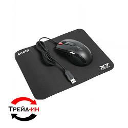 Комплект: мышь A4Tech X-710BK Black USB + коврик A4Tech X7-200MP Black