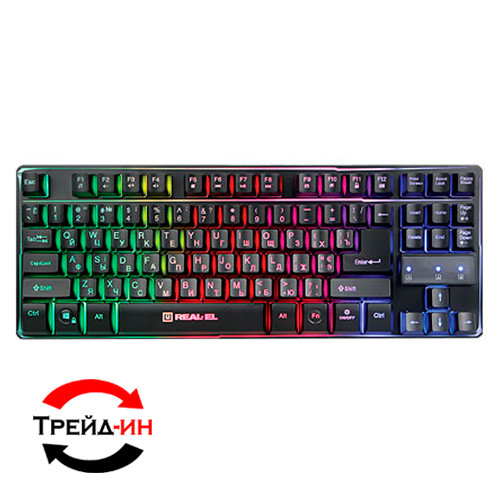 Клавиатура Real-EL Gaming 8710 TKL Backlit USB Black