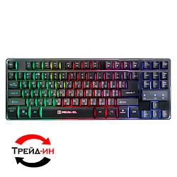 Клавиатура Real-EL Gaming 8710 TKL Backlit USB Black