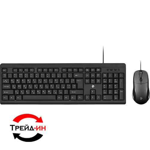 Комплект (клавиатура, мышь): 2E MK401 USB Black (2E-MK401UB)