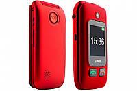 Кнопочный телефон бабушкофон-раскладушка с кнопкой сос на 2 сим карты Sigma Comfort 50 Shell DUO Black-Red