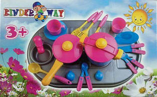 """Игровой набор """"Плита с мойкой и посудой"""" KW-04-409"""