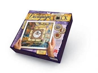 "Набор для декупажа Dankotoys ""Decoupage Clock Классика"", с рамкой DKC-01-01"