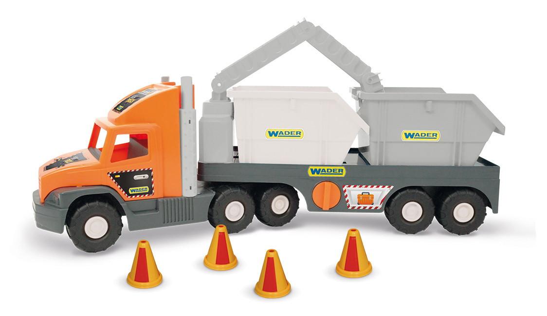 """Самосвал """"Super Tech Truck"""" со строительными контейнерами 36760"""