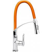 Смеситель воды для раковины FLEXIBLE-2 с гибкий оранжевый регулировка воды 60 см- Fala