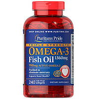 Triple Strength Omega-3 Fish Oil 1360мг (240 капсул)