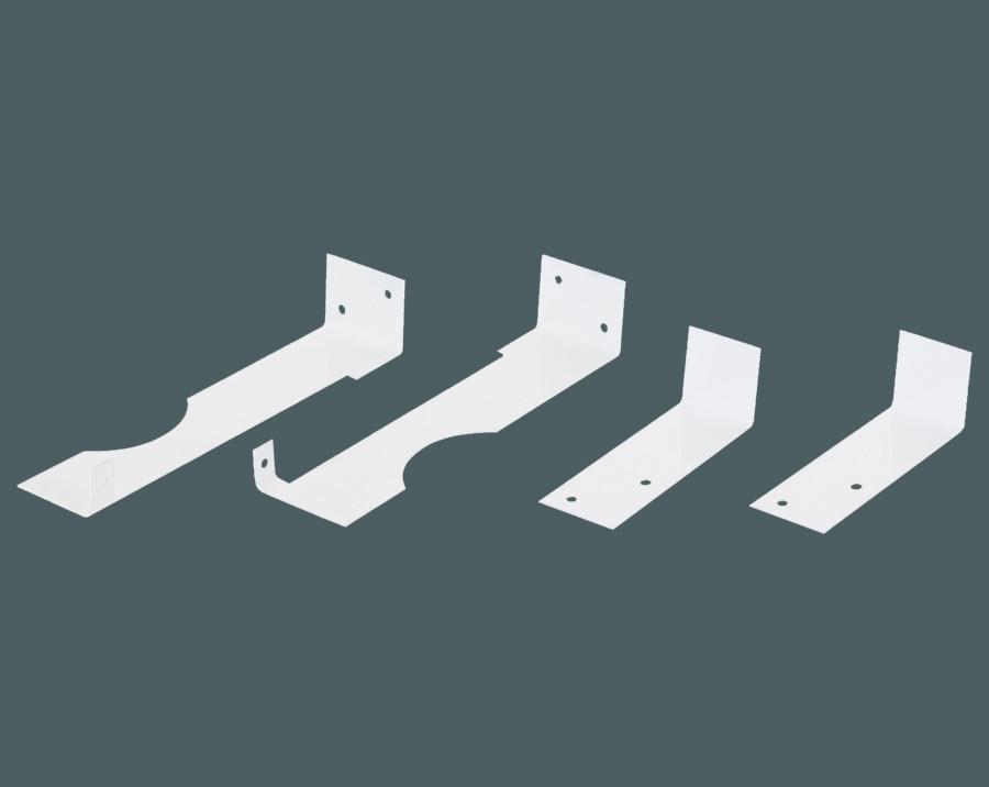 Комплект кронштейнов для крепления экранов SMARTWOOD на чугунные радиаторы, цвет белый