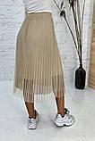 Юбка фатиновая плиссе на резинке длиной миди, 3цвета, р-р.42,44,46 код 358Т, фото 4