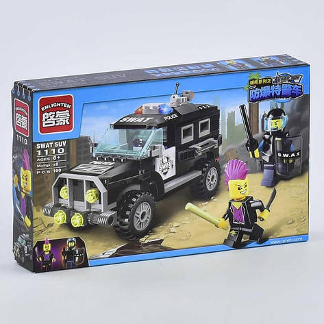 """Конструктор Brick 1110 (48) """"Полицейский джип"""" 190 деталей, в коробке СОБРАННЫЙ, фото 2"""