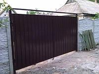 Ворота из профнастила 0,45мм. без рамки