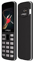 Кнопочный телефон сигма черный с камерой и большим экраном на 2 sim Sigma X-style 24 ONYX Grey