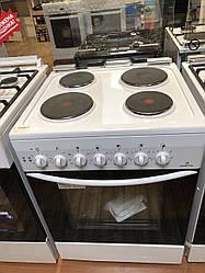 """Плита електрична """"Грета"""" 600-Е (08) (біла,7кВт,ПД,скл.кришка)"""