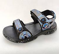 Детские босоножки сандалии для мальчика 34р 21,5см Clibee синий