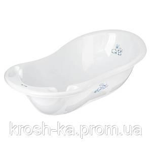 Ванночка детская с термометром,слив Кролики 102см Tega Польша белая KR-005-103