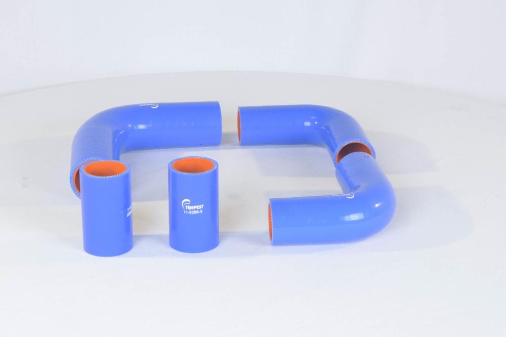 Патрубок радиатора ГАЗ 3110 (дв.406) (комплект 5 шт. силикон) (TEMPEST) (арт. TP.1320), rqv1qttr