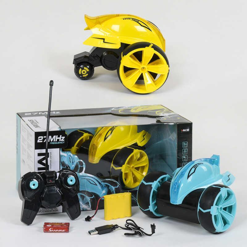 Машина-перевертыш на р/у 5588-612 (12) 2 цвета, трюковая, подсветка, аккумулятор 4.8V, в коробке