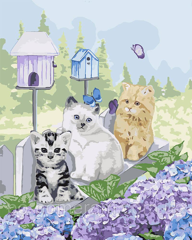 Раскраска по цифрам Идейка Малыши в саду (KHO4157) 40 х 50 ...