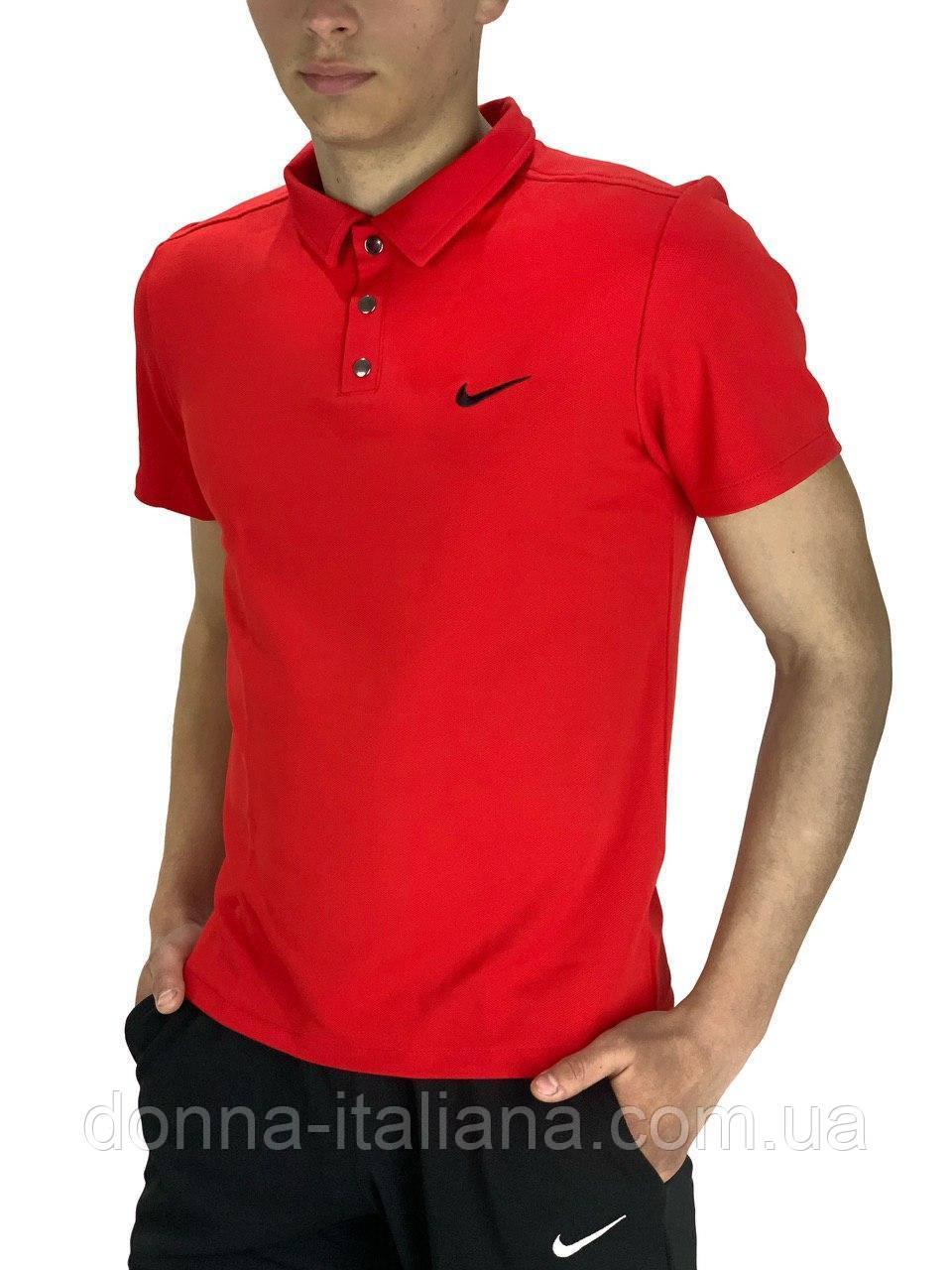 Футболка Polo Nike Реплика S Красный (Polo_Reebok_red 1)