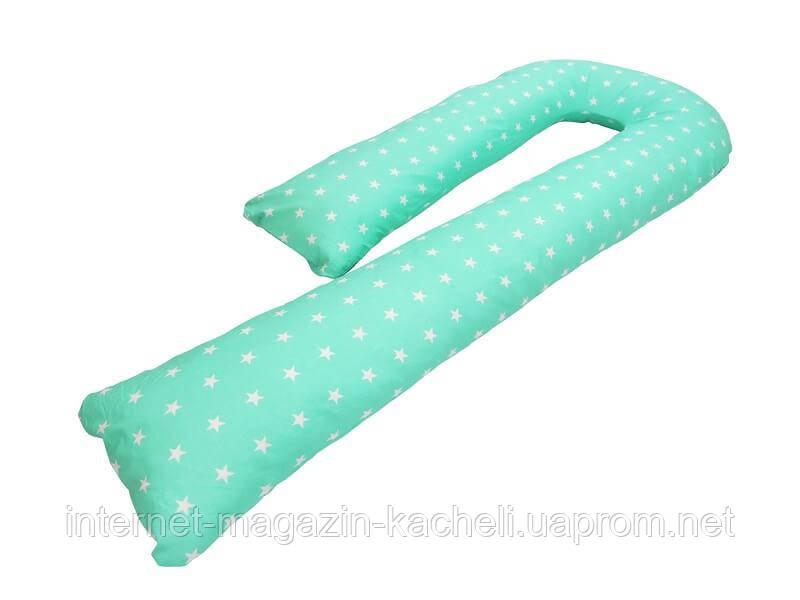 Подушка для беременных KIDIGO J  образная Звездочки (с наволочкой)