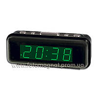 Часы сетевые VST 738-4 салатовые настольные(электронные цифровые часы)