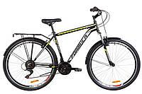 """Велосипед 28"""" Formula MAGNUM AM 14G Vbr St с багажником зад St, с крылом St 2019 (черно-желтый)"""