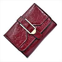 Женский мини кошелек Le-Mon 1240-darkred Темно-красный, КОД: 1624773