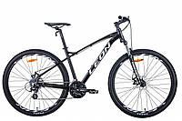 "Велосипед 29"" Leon TN-90 2020 (чёрно-белый c серым)"