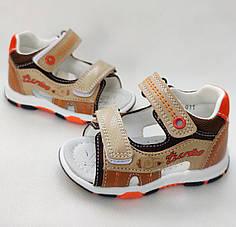 Детские босоножки сандалии для мальчика бежевые Jong-Golf 23р 14.5см