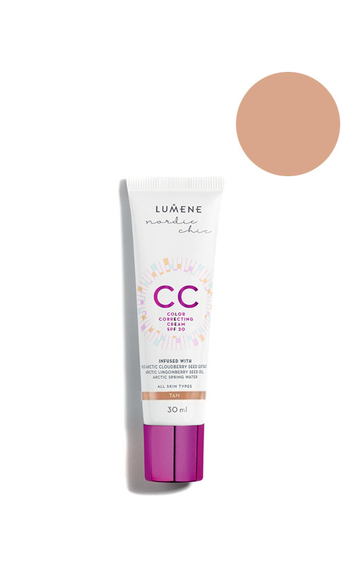 Lumene Nordic Chic CC Color Correcting Cream SPF20 Тональный крем Tan