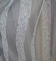 Тюль лен Валенсия серый, фото 2