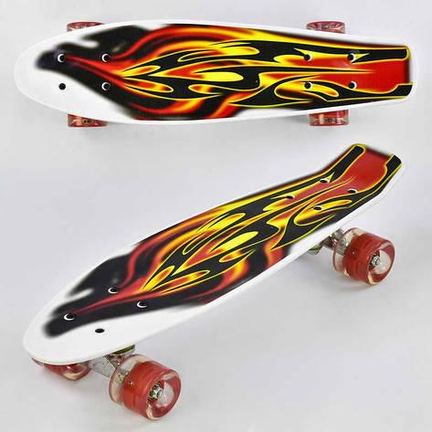 Скейт F 4380 (8) Best Board, доска=55см, колёса PU, СВЕТЯТСЯ, d=6см, фото 2