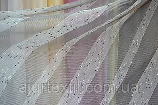 Тюль лен Валенсия серый, фото 3