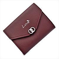 Женский мини кошелёк Le-Mon 3357-burgundy Бордовый, КОД: 1624776
