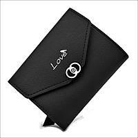 Женский мини кошелек Le-Mon 3357-black Черный, КОД: 1624766