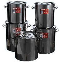 Набір великих каструль A-PLUS (2200) 5 шт нержавіюча сталь комплект посуду
