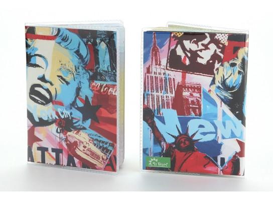 Обложка виниловая на паспорт Мэрилин Монро